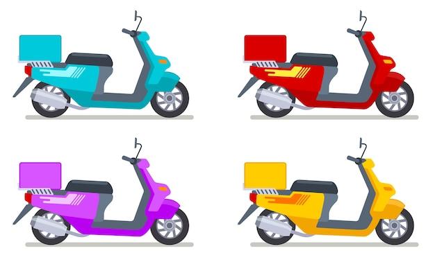 Набор цветных самокатов Premium векторы