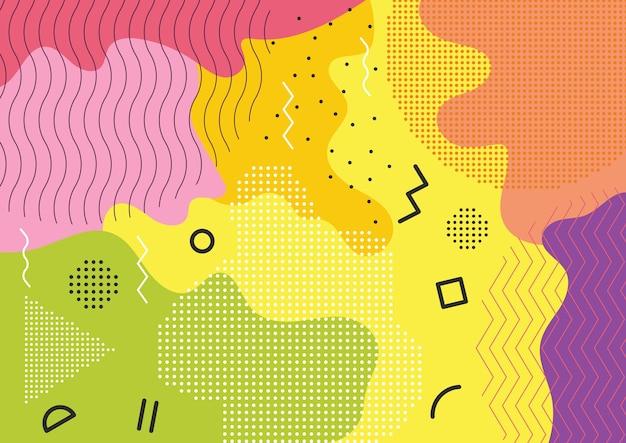Color splash abstract background Premium Vector