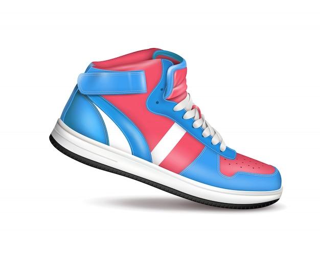 Color sport sneaker Vettore gratuito