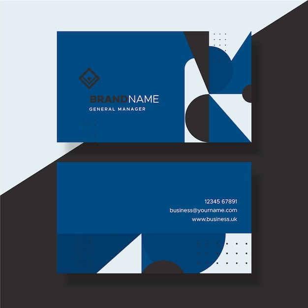 Color of the year 2020 abstract business card Free Vector