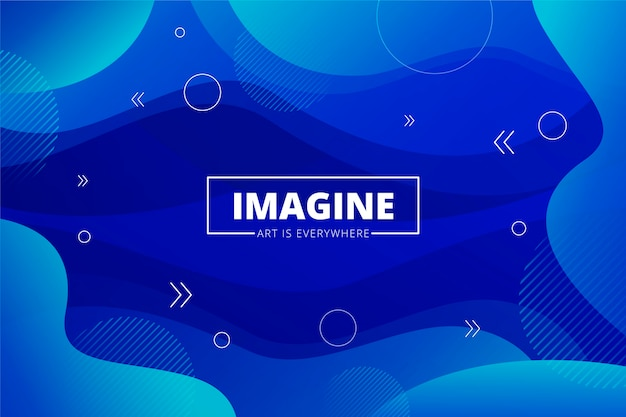 Color of the year 2020 blue abstract background Free Vector