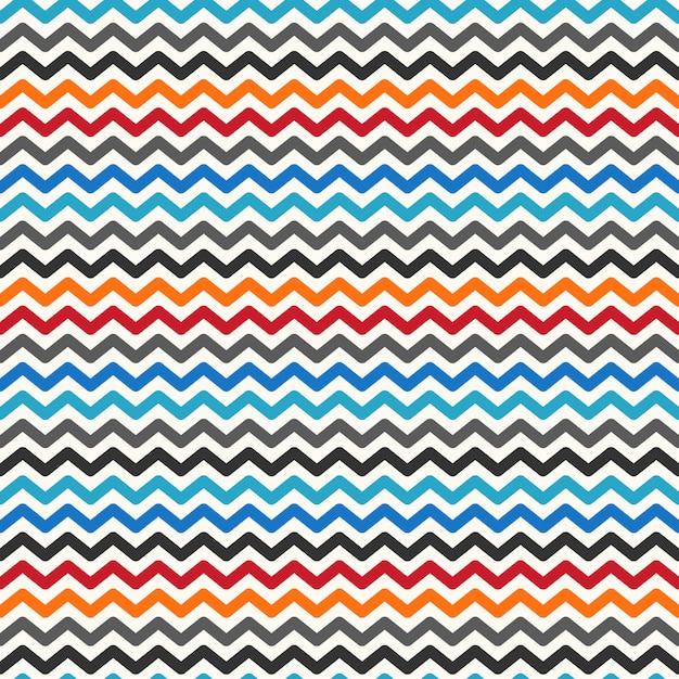 Color zigzag seamless pattern Premium Vector