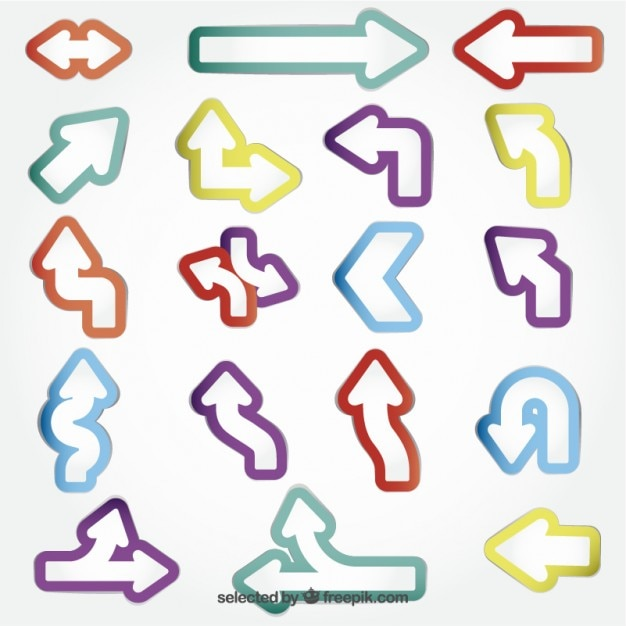 Colored arrow stickers