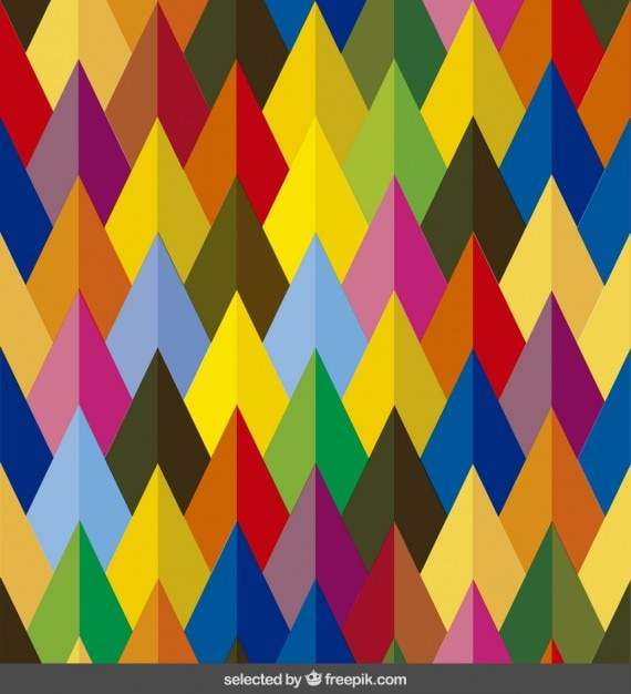 Colored arrows pattern Free Vector