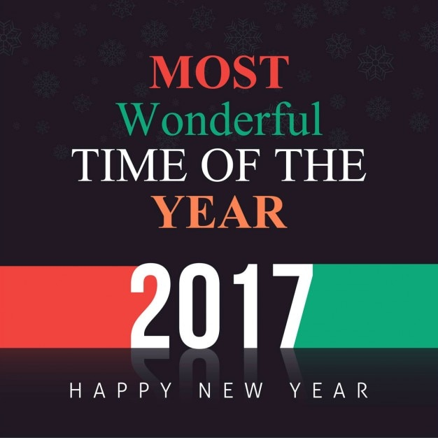 Colored background with new year message Free Vector