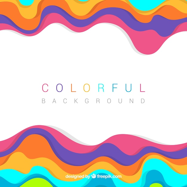 Colored background with wavy forms