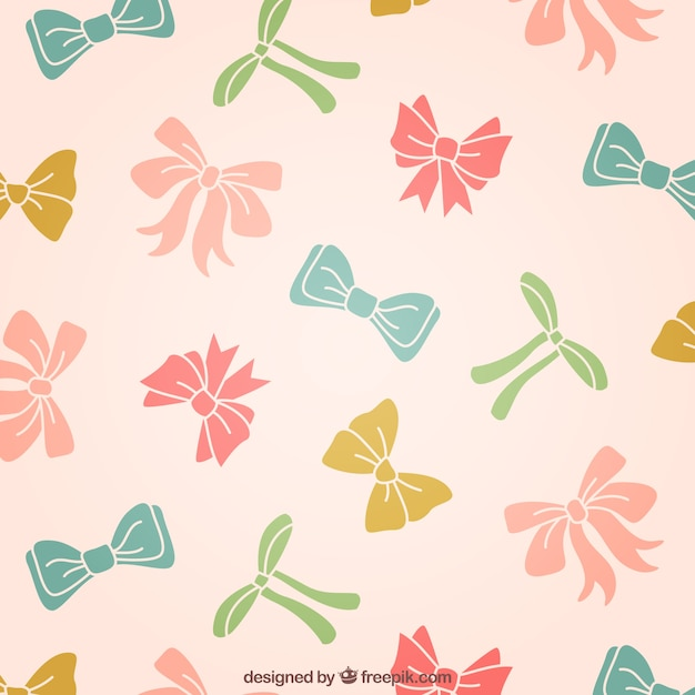 Colored bows Free Vector