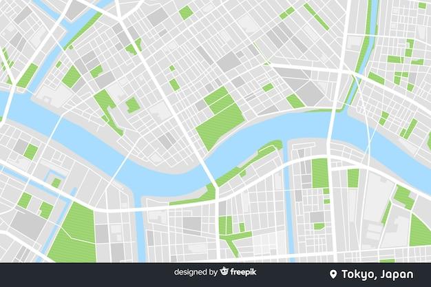 Цветная карта города цифровая концепция Premium векторы