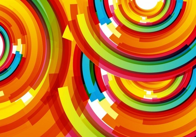 Colored design vector background Free Vector