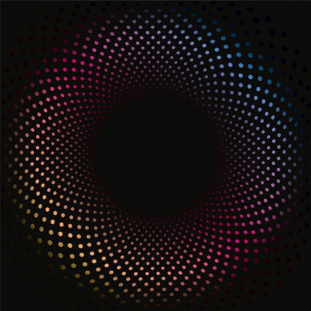 Colored dots 3d background pattern Premium Vector