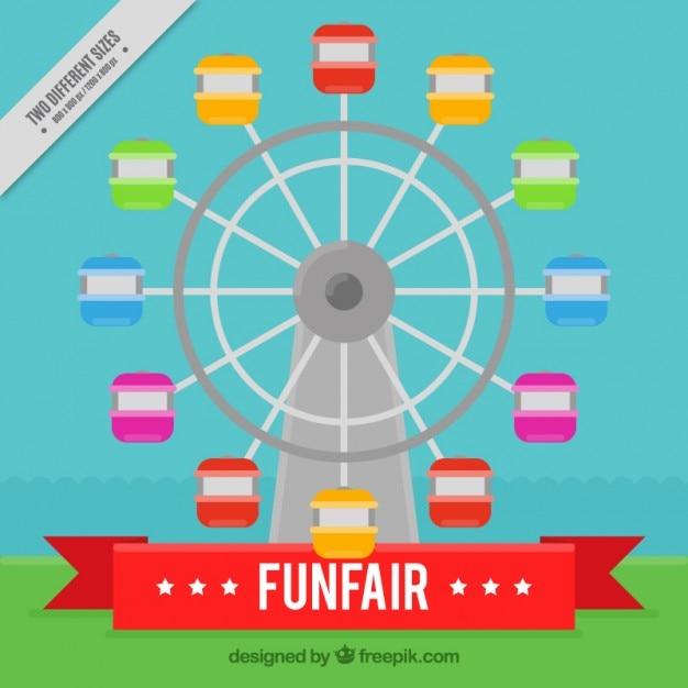 Colored ferris ... Ferris Wheel Vector Free Download