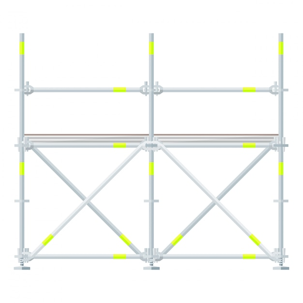 Colored flat style scaffolding Premium Vector
