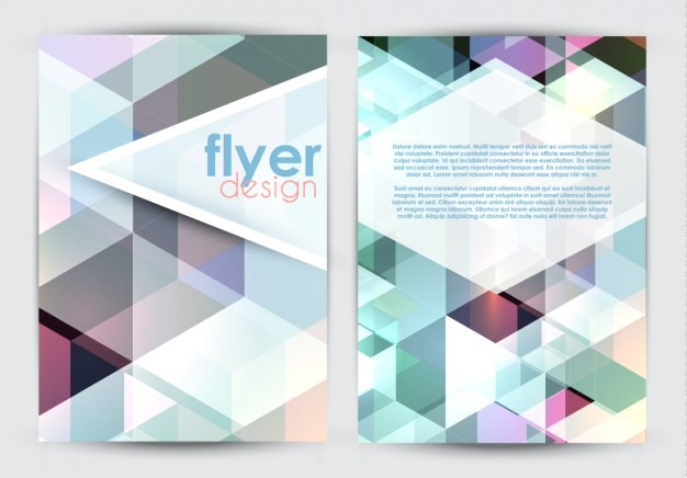 Colored Geometric Flyer Template Vector  Free Download
