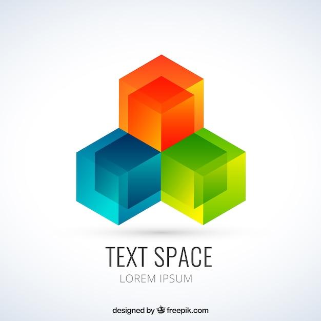 Colored geometric logo Free Vector