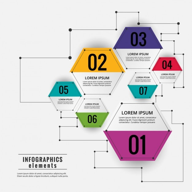 Colored hexagonal infographic diagram vector free download colored hexagonal infographic diagram free vector ccuart Images
