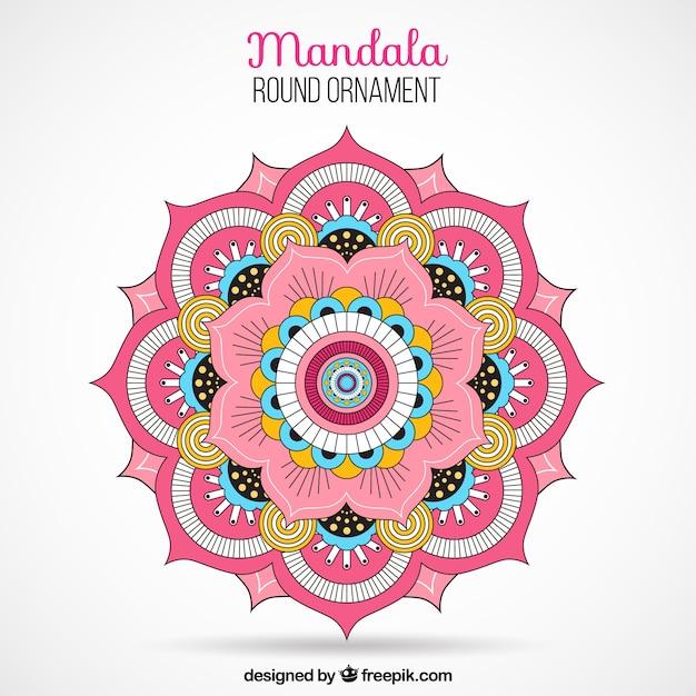 Colored mandala Free Vector