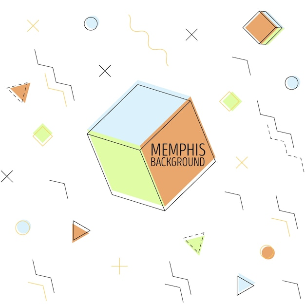 Colored memphis bacground Free Vector