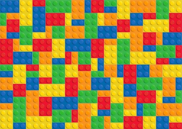 Colored plastic building block Premium Vector