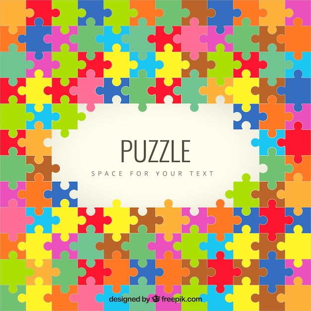 Colored Puzzle Pieces Background 797394