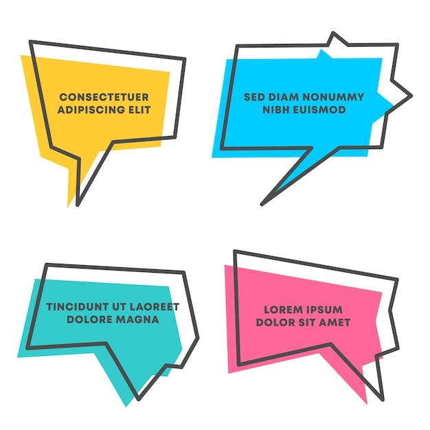 Colored quote speech bubble template Premium Vector
