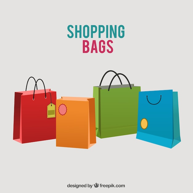 Colored shopping bags Vector | Free Download