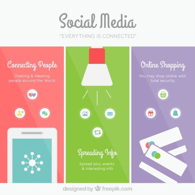 Colored social media banners Vector | Free Download