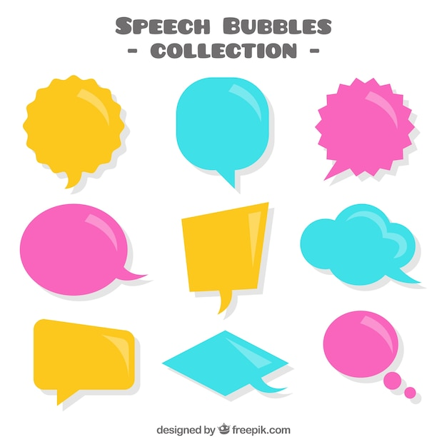 Colored speech bubbles pack