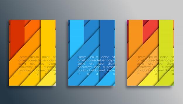 壁紙、チラシ、ポスター、パンフレットの表紙、背景、カード、タイポグラフィまたは他の印刷製品の色のストライプデザイン。ベクトルイラスト Premiumベクター