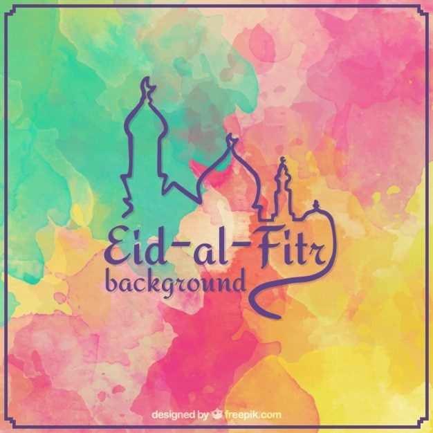 Amazing Modern Eid Al-Fitr Decorations - colored-watercolor-eid-al-fitr-background_23-2147554848  Perfect Image Reference_771511 .jpg