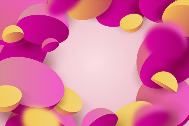Colorful 3d background Free Vector