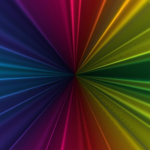 Colorful 3d background Premium Vector
