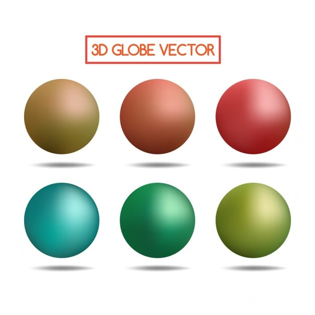Colorful 3d spheres Free Vector