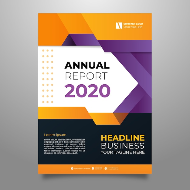Colorful abstract annual report template Premium Vector