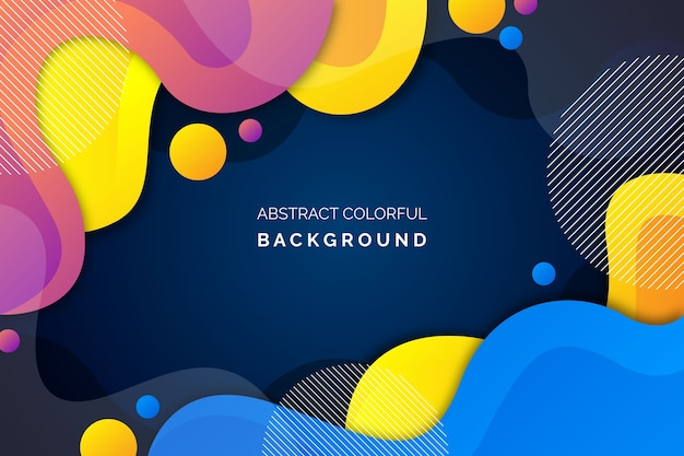 Colorful abstract background style Free Vector