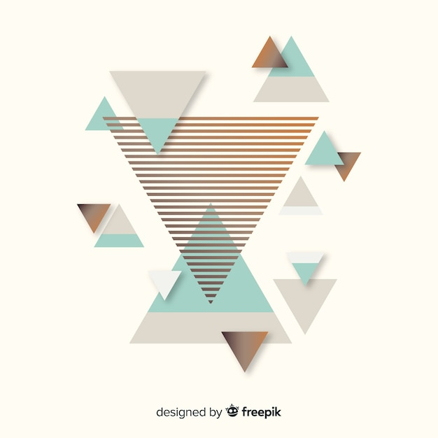 Colorful abstract background with flat design Free Vector