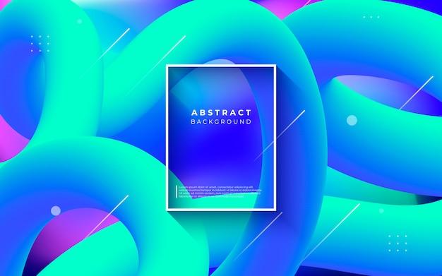 Цветной абстрактный фон с жидкими формами Бесплатные векторы