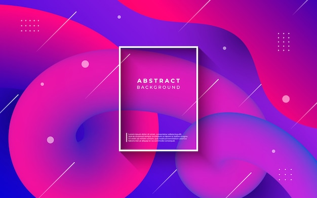 Colorful abstract background with fluid shapes Free Vector