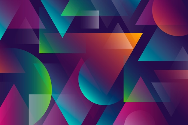 Colorful abstract background with geometric shapes Free Vector