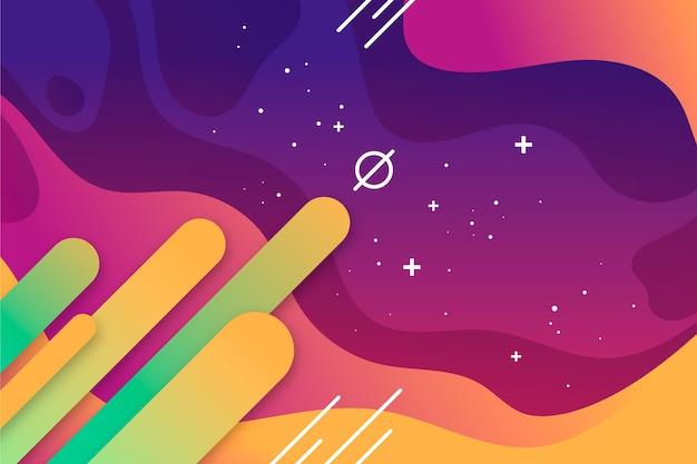 星とカラフルな抽象的な背景 無料ベクター