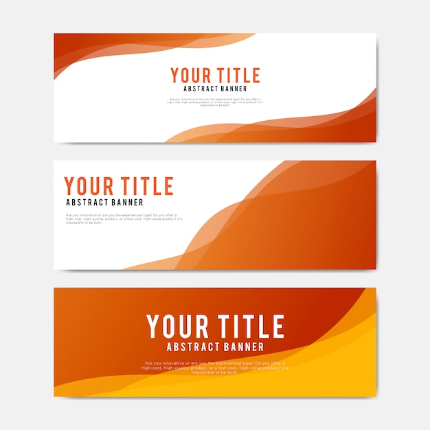 Colorful and abstract banner design templates Free Vector