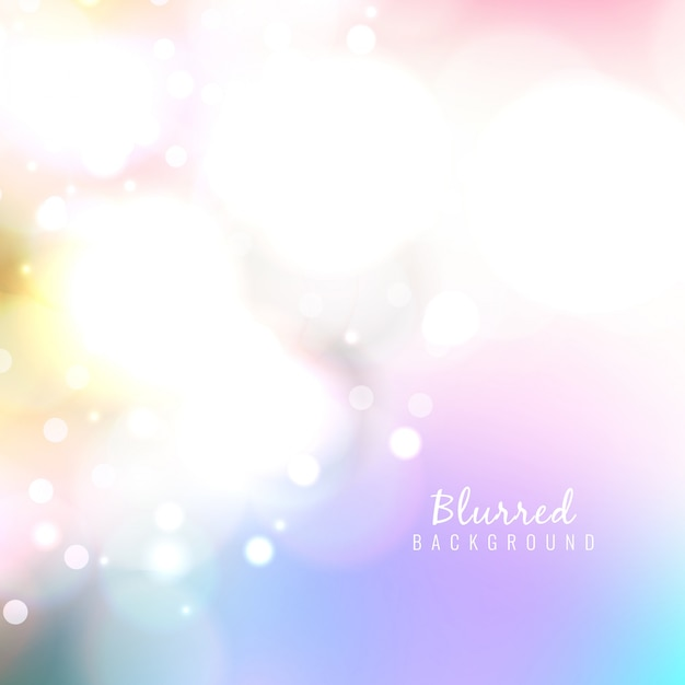 Colorful abstract blurred background Premium Vector