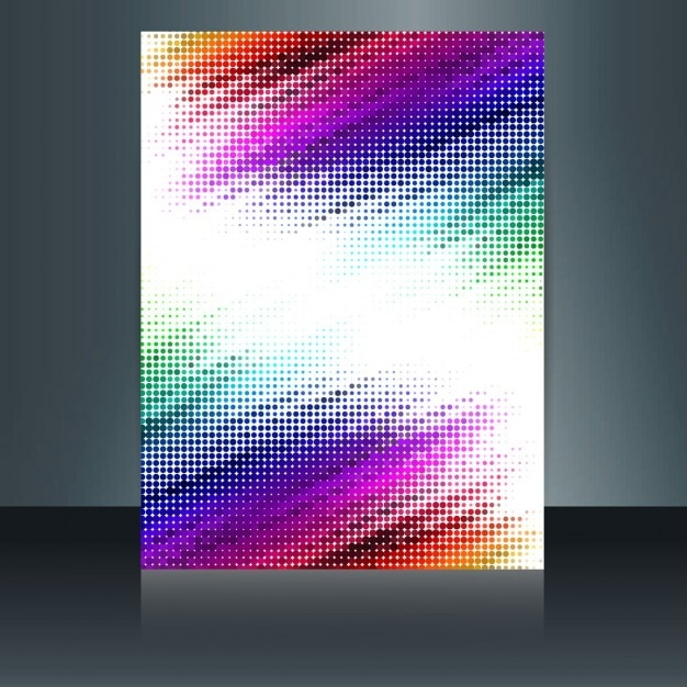 Colorful abstract brochure vector free download for Colorful brochure