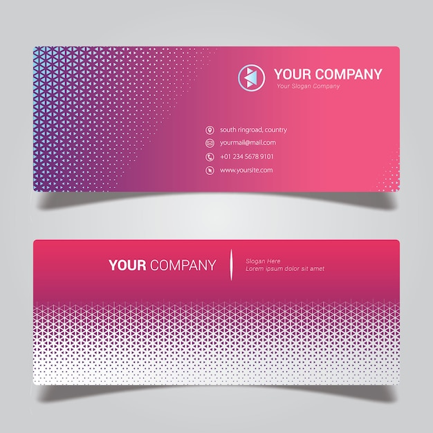 Colorful abstract business card Premium Vector