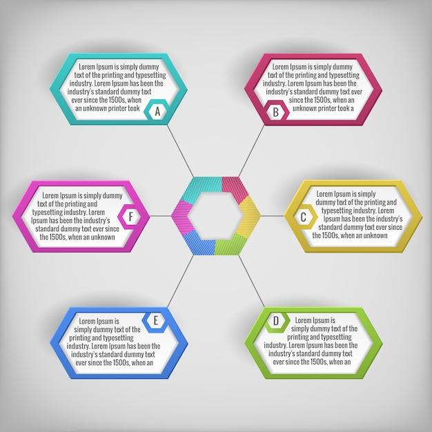 カラフルな抽象的なビジネス図またはテキストフィールドのインフォグラフィック 無料ベクター