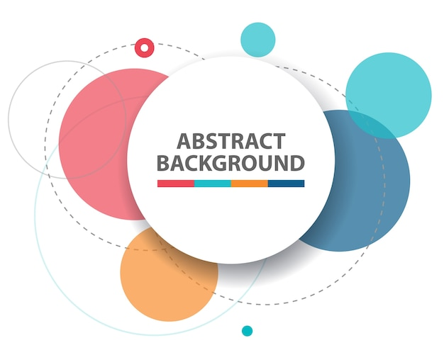 Colorful abstract circle background Free Vector