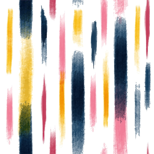 Colorful abstract creative seamless pattern with brush strokes. Premium Vector