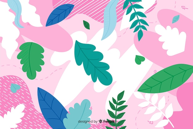 Colorful abstract floral background hand drawn Free Vector