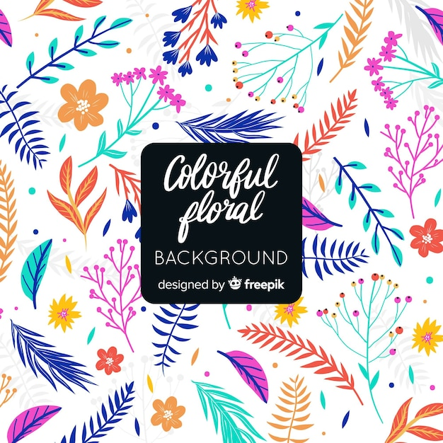 Colorful abstract floral background Free Vector