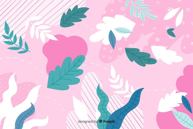 Colorful abstract floral hand drawn background Free Vector