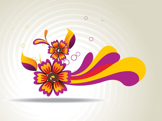 Colorful abstract flower background